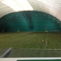 Photo taken at Robert Morris University Island Sports Center - Golf Dome by Stephen D. on 4/28/2013