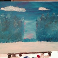 Photo taken at Wine And Canvas Art Studio by Adrienne on 12/16/2012