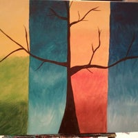 Photo taken at Wine And Canvas Art Studio by Adrienne on 1/13/2013