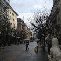 Photo taken at Rue du Mont-Blanc by Булат Ю. on 2/4/2013