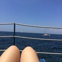 Photo taken at Beach Parco Dei Principi by Maria M. on 7/6/2014