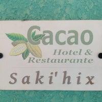 Photo taken at Kakaw Hotel & Restaurante by Rodrigo L. on 5/9/2013