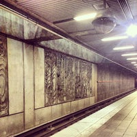 Photo taken at MARTA - Arts Center Station by Nicholas C. on 10/21/2012