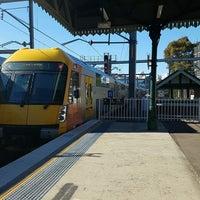 Photo taken at Strathfield Station (Platforms 7 & 8) by Sharon J. on 8/13/2016