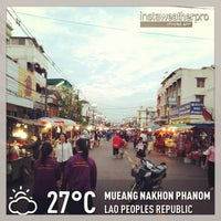 Photo taken at ตลาดโต้รุ่ง-นครพนม by Akaradech T. on 12/26/2012