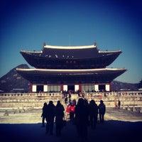 Photo taken at Gyeongbokgung by Hyemi Y. on 2/11/2013