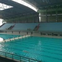 Photo taken at Jakabaring Aquatic Stadium by Supriadi on 3/30/2013