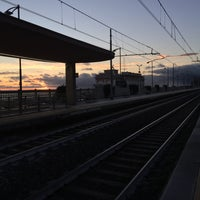 Photo taken at Stazione Bordighera by RickyDive on 11/5/2017