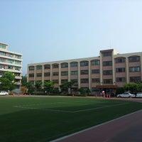 Photo taken at 정의여자중학교 by soojung c. on 6/30/2013