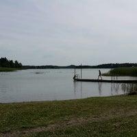 Photo taken at Djupviks Badplats by Matt W. on 7/12/2014