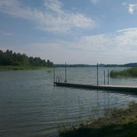 Photo taken at Djupviks Badplats by Matt W. on 7/27/2013