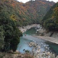 Photo taken at 保津川支流 by Hideki K. on 11/24/2014