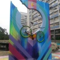 Photo taken at Praça do Ciclista by Ismael P. on 4/7/2013