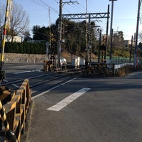 Photo taken at 水道路踏切 by kitayama_t on 2/23/2014