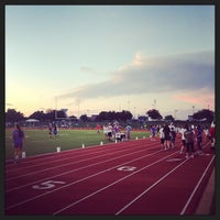 Photo taken at Allen High School Track Field by Kendra O. on 5/31/2014