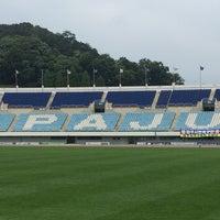 Photo taken at 파주스타디움 by Haragoo_Love on 6/8/2014