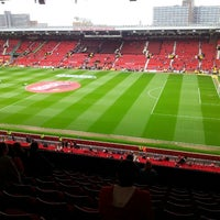 Photo taken at Old Trafford by Ahmad R. on 5/5/2013