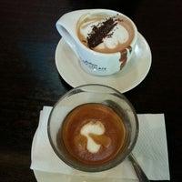 Photo taken at Theobroma Chocolate Lounge by Rin B. on 5/12/2014