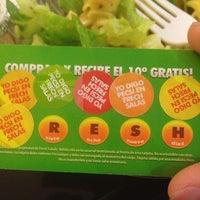 Photo taken at Fresh Salads Fresca Vida by Ana C. on 1/18/2014