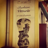 Photo taken at Barbiere Vittorio by Fabio C. on 8/21/2013