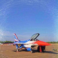 Photo taken at Wing 1 Royal Thai Air Force by Tiiwz T. on 1/11/2014