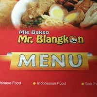 Photo taken at Mie Bakso Mr. Blangkon by Shandy A. on 7/7/2016