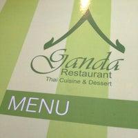 Photo taken at Ganda Restaurant by Tanyaporn V. on 10/11/2012