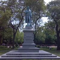 Photo taken at Friedrich von Schiller Statue by James S. on 6/11/2013