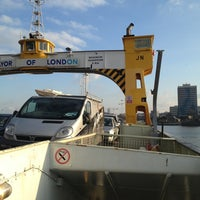 Photo taken at Woolwich Ferry by Nessie2001 on 1/13/2013