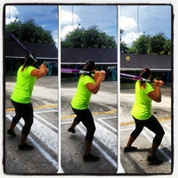 Photo taken at Sluggers Batting Cages by Yasmine A. on 4/21/2013