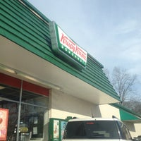 Photo taken at Krispy Kreme Doughnuts by Angela S. on 2/13/2015