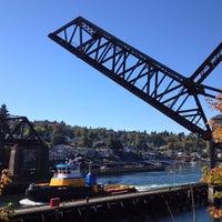 Photo taken at Salmon Bay Bridge by Calvin T. on 10/6/2013