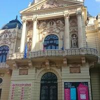 Photo taken at Színház tér by Krisztina G. on 7/22/2016