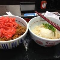 Photo taken at なか卯 船場中央大通店 by nobu-s on 7/8/2013