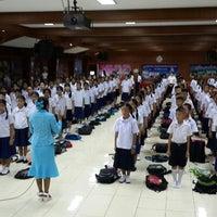 Photo taken at Sainamthip School by Jamejame on 5/16/2014