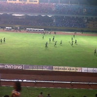 Photo taken at Stadion Gelora Sriwijaya (GSJ) by Risca N. on 12/7/2012