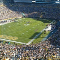 Photo taken at Lambeau Field by Jessica J. on 9/30/2012