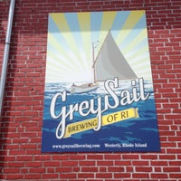 Photo taken at Grey Sail Brewing of Rhode Island by Nik A. on 6/22/2013