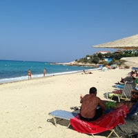 Photo taken at Livadi Beach by Λίνος Σ. on 8/16/2013