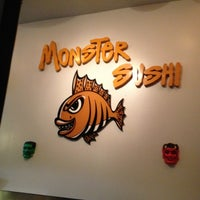 Photo taken at Monster Sushi by Steve G. on 10/27/2013