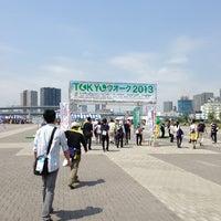 Photo taken at Tokyo Rinkai Disaster Prevention Park by Emi on 5/25/2013