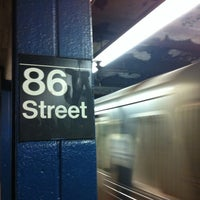 Photo taken at MTA Subway - 86th St (B/C) by Charley L. on 10/26/2012