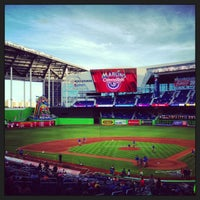 Photo taken at Marlins Park by Andre S. on 4/8/2013