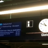 Photo taken at S1 Freising/Flughafen - Ostbahnhof by Gustavo W. on 9/21/2012