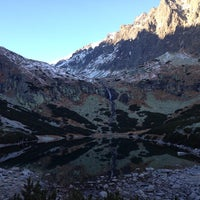 Photo taken at Velické pleso by Gabriela P. on 10/19/2013