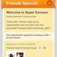 Photo taken at Super Konzum by Sonja S. on 11/1/2012