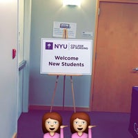 Photo taken at NYU Meyer Hall by Brittany F. on 12/2/2014