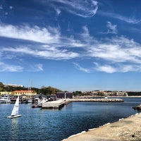 Photo taken at Oeiras Yacht Harbour by Jorge B. on 4/21/2013