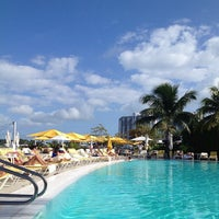 Photo taken at Pool at The Standard Spa, Miami Beach by Dorothy M. on 12/26/2012