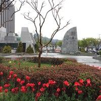 Photo taken at 세종로공원 by Hyo-Won L. on 4/14/2017